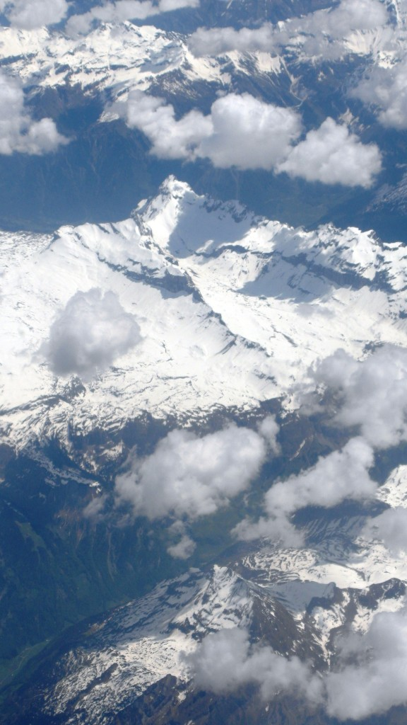 Wolkenlucht vanuit vliegtuig